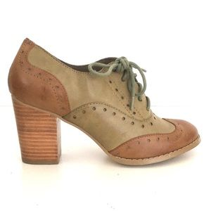 Restricted shoes sz 7.5 wmn Oxford Style heels